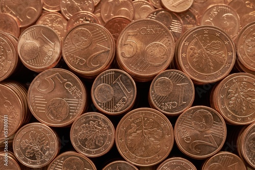 Poster Euro coins money