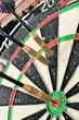 Darts game in dart board
