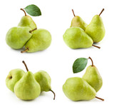 ripe pears isolated