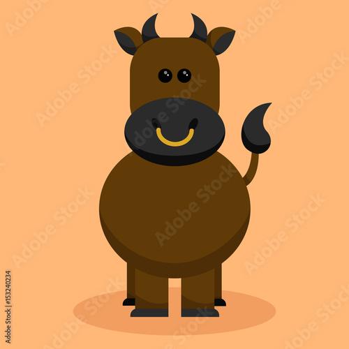 Ilustración vectorial - Toro - Animales de granja