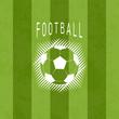 Football sport soccer logo vector illustration background