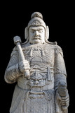A military officer stone statue in God Way Ming Tombs, Beijing.The Ming Tombs are the tombs of thirteen emperors of the Ming Dynasty of China (1368----1644 A.D).