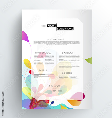 Creative Abstract Colorful CV Resume Template