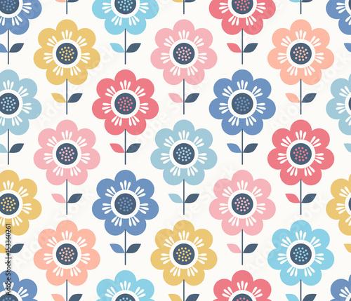 seamless floral pattern - 153360261