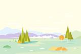 Geometric Nature Landscape Background