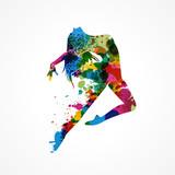 silhouette femme colorée