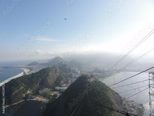 Canvastavla Sugarloaf mountain and view, Rio , Brazil