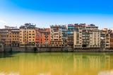 Façades sur l'Arno à Florence en Toscane, Italie