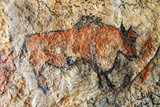 Cave painting in prehistoric style - 153431624