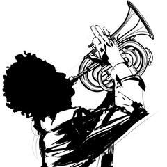 Trumpet player © Isaxar