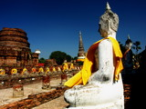 Buddha statue , Wat Yai Chaimongkol , Ayutthaya Historical Park , Thailand