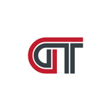 Initial Letter GT Linked Design Logo