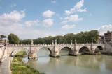 View at bridge Ponte Sant Angelo in Rome