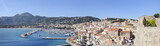 view of the marina and the city of Calvi, Corsica