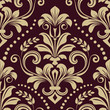 Cotton fabric Seamless vintage wallpaper pattern