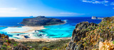 Most beautiful beaches in Greece - Balos bay in Crete island - 153502819