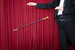 Magic trick with dancing cane