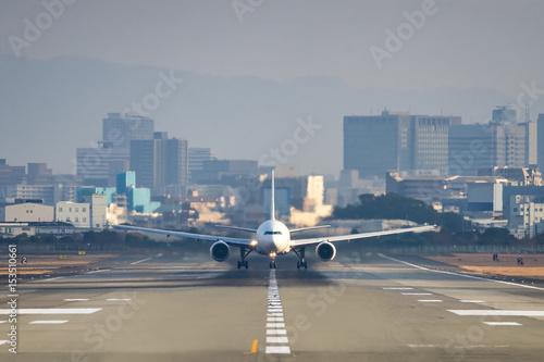 Boeing 777-300 taking off