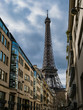 Eiffel Tower From A french Street