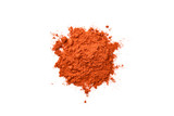 chili powder on white background