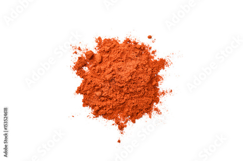Foto op Aluminium Hot chili peppers chili powder on white background