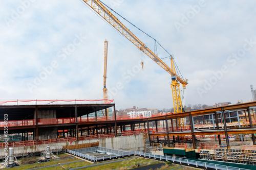 crane construction skyscraper