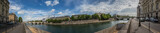Panorama view of the river Seine at Paris