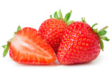 Strawberries isolated on white background - 153581296