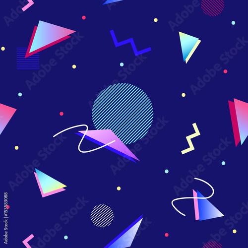 Materiał do szycia 90s style geometric seamless pattern
