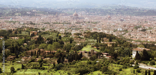 Florence in Tuscany, Italy panorama view from the North of the city