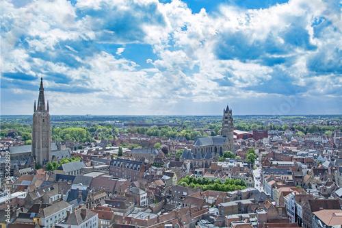 Deurstickers Brugge Bruge / Brugges, old town in Belgium