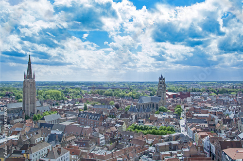 Foto op Aluminium Brugge Bruge / Brugges, old town in Belgium