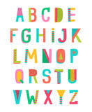 Colorful alphabet vector design