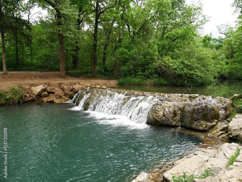 """Little Niagara"" falls, Chickasaw National Recreation Area in Sulphur, Oklahoma The Little Niagara falls in Chickasaw National Recreation Area in Sulphur, Oklahoma"