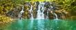 Cascade Vacoas waterfall. Mauritius. Panorama - 153721432
