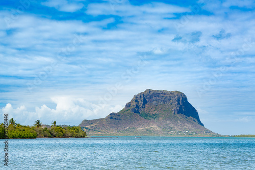 Poster Amazing view of Le Morne Brabant. Mauritius.