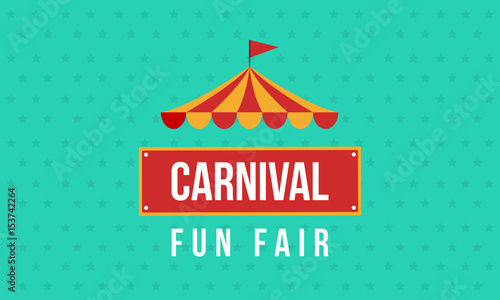 Aluminium Groene koraal Carnival fun fair theme design