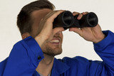 craftsman with binoculars