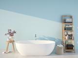 blue spa bathroom. 3d rendering - 153802824