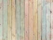 wood background or texture with planks pastel colored - 153807675