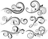 Floral swirls design elements. Vector illustration. - 153815800