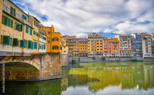 Florence Architecture with Italy Cityscape River Reflection.