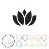 Bunte 3D Buttons - Lotus