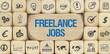 Freelance Jobs / Würfel mit Symbole