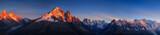 Panorama of the Alps near Chamonix during sunset. Chamonix, France.