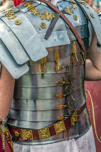 Detail of the costume of a Roman soldier Poster