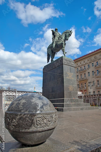 Monument of founder of Moscow - Yuri Dolgorukiy at Tverskaya Square in Moscow Poster