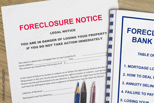 Foreclosure notice Poster