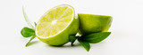 Fruit. Lime and green mint leaves