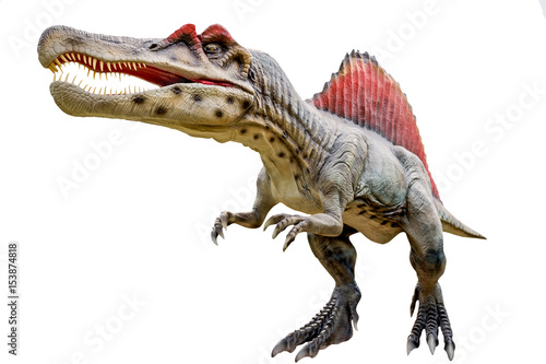 Dinosaur spinosaurus and monster model Poster